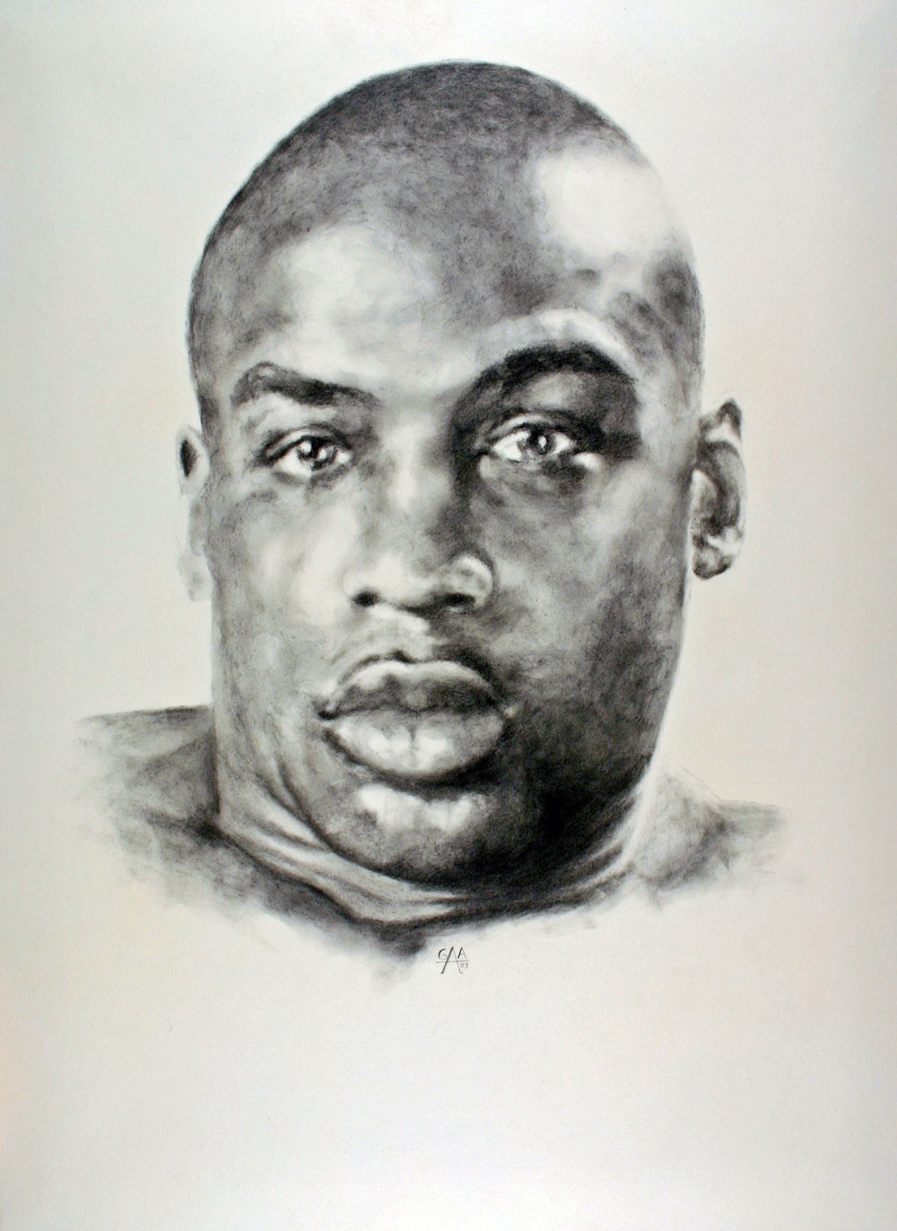 Terry Graphite on Board 18x24   SOLD