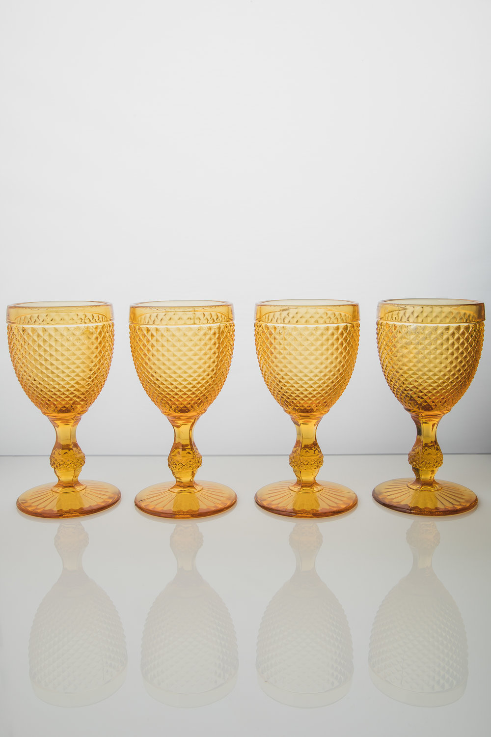 BICOS WATER GOBLET AMBAR