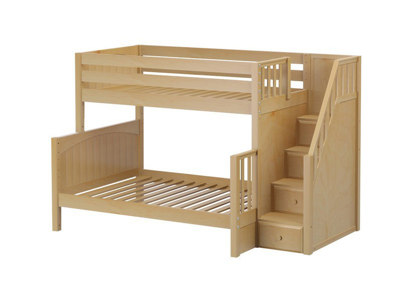 Twin:Full Bunk w: Staircase (Natural) .jpg