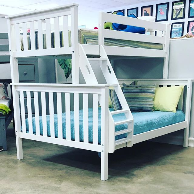 TWIN over FULL bunk just hit the floor! 4 different colors available and 100% solid wood by @maxtrixkidsfurniture