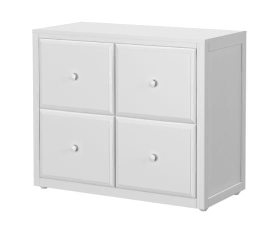 4 Drawer Cube Dresser in White