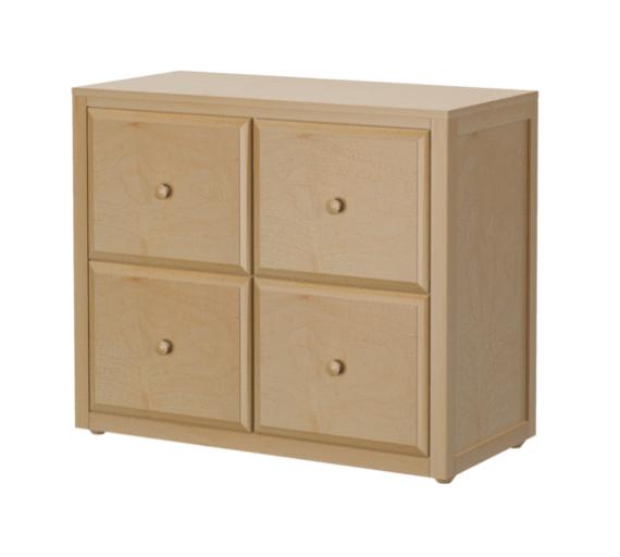 4 Drawer Cube Dresser in Natural