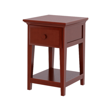 1 Drawer Night Stand with Shelf in Chestnut