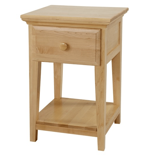 1 Drawer Night Stand with Shelf in Natural