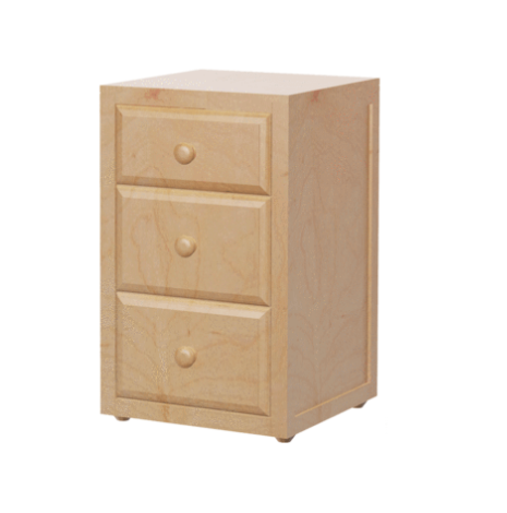 3 Drawer Nightstand in Natural