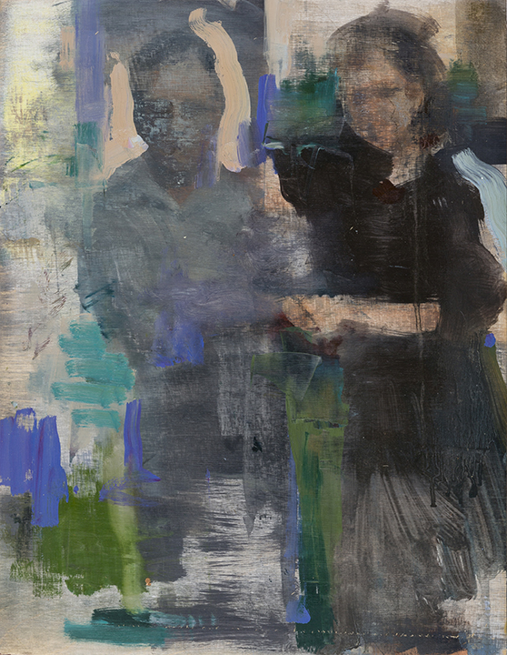 """Fading Couple"", Garland of Hours, oil on panel, 2015-2016"