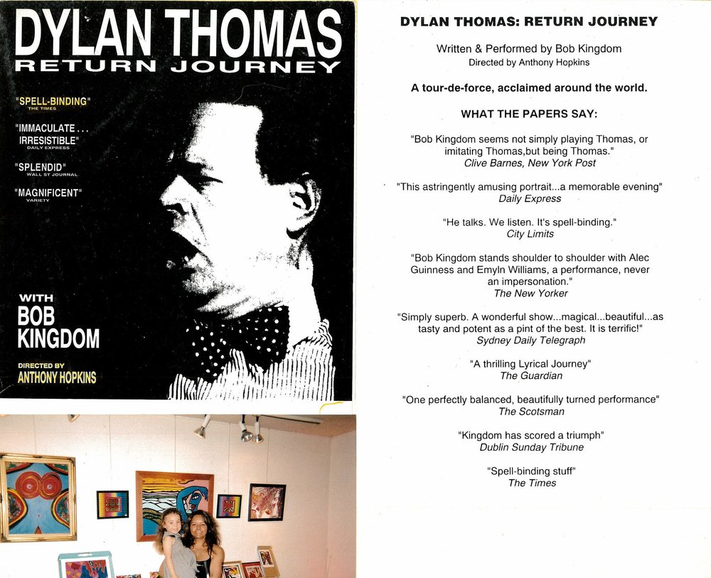 OAP evening with Kim Michelle Broderick photo art exhibition Espace cardin and DYLAN THOMAS flyer.jpg