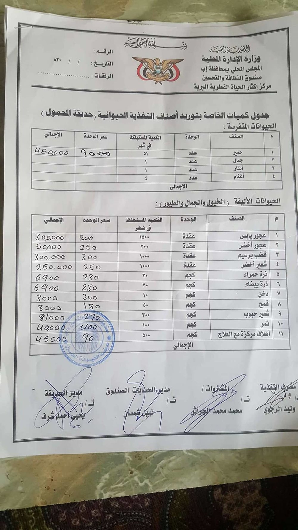 Ibb Zoo CIF IBB Invoice supplies 1 month for OWAP-AR Broderick Rescues 2nd Jan 2018.jpg