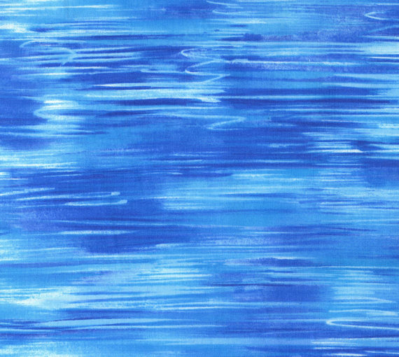 Blue wave decorator fabric