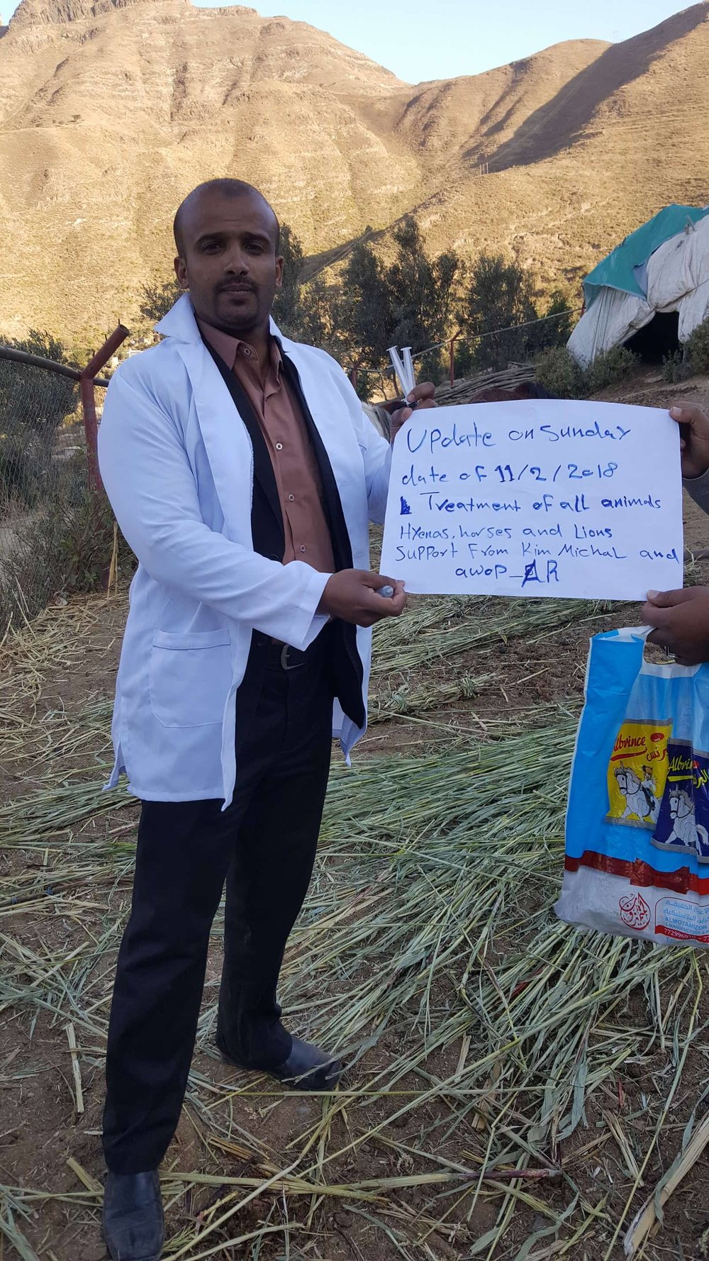 IBB ZOO rescue MUAAD WITH OUR SIGN 11 FEB 2018 treatments hyenas lions, horses etc by OWAP AR .jpg