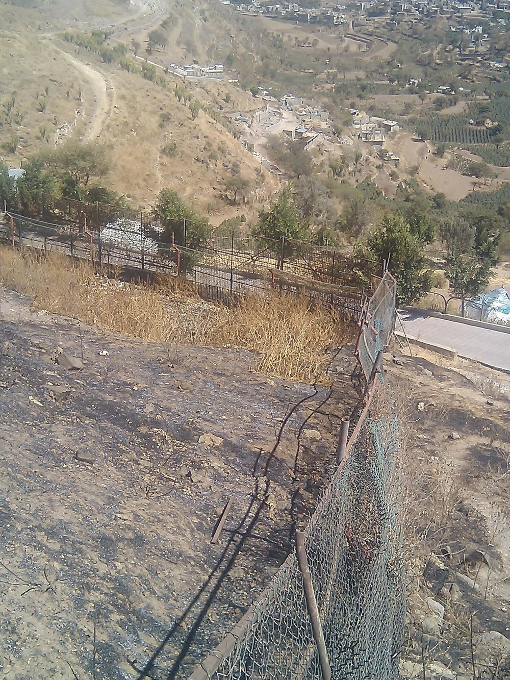 IBB ZO O LIONS OPEN RANGE enclosure with fecning to be repaired 17 FEB 2018 HAITHAM engineer.jpg