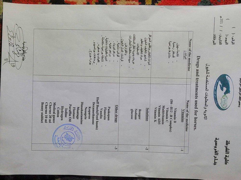 Police Ac from Salah vet The Police Academy sana'a Yemen for OWAP-AR 20 nov 2018 vet med list of requirements.jpg