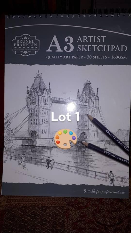 auction LOT 1 Artist sketch pad. OWAP AR 2018 Christmas auction.jpg