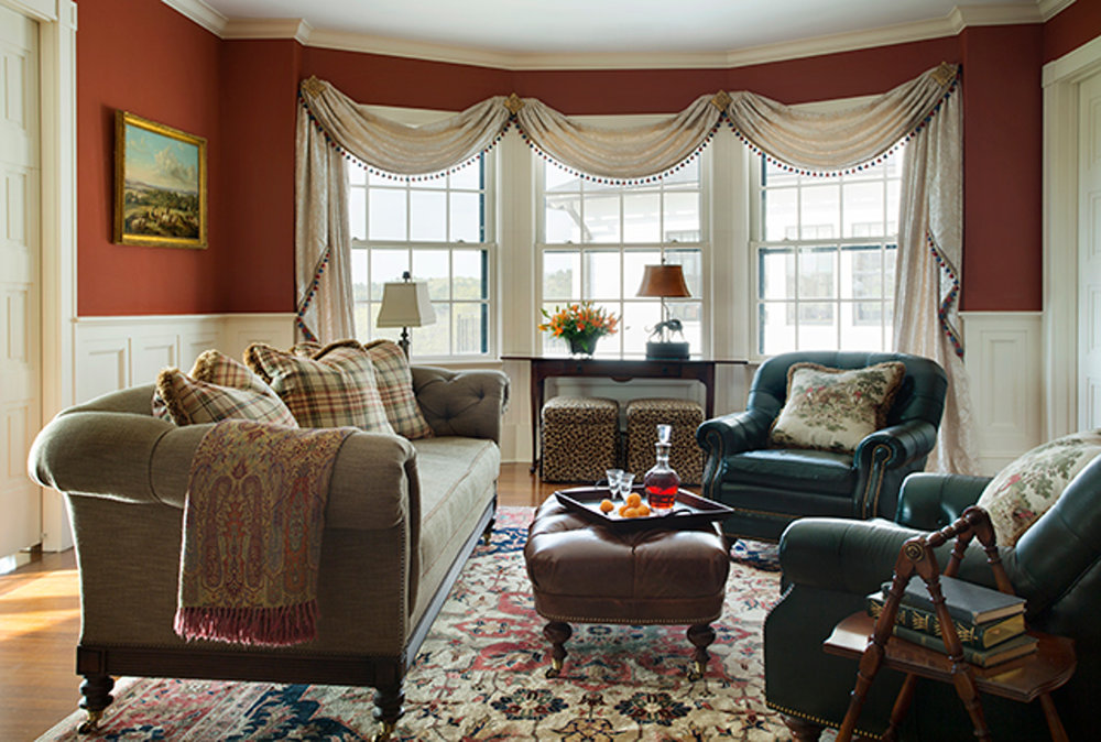 gentleman's farm living room
