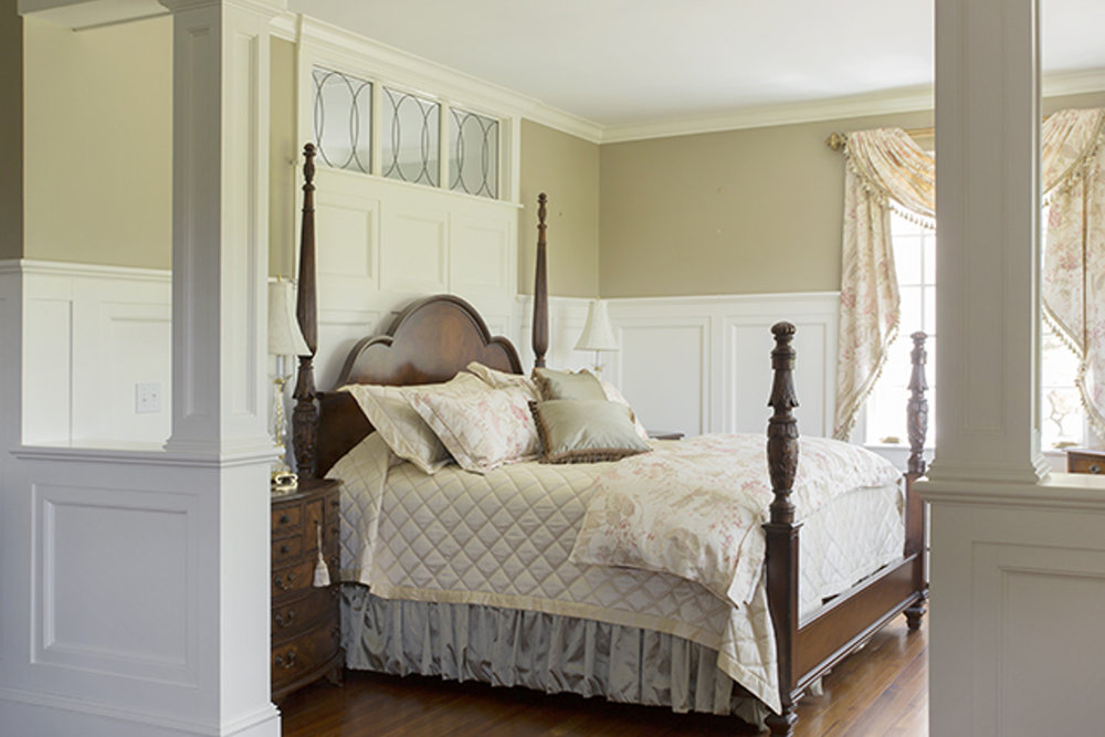 gentleman's farm master bedroom