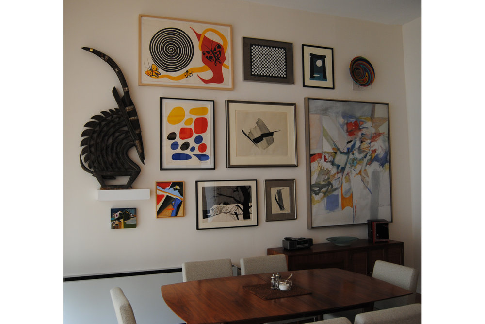 artwork gallery wall