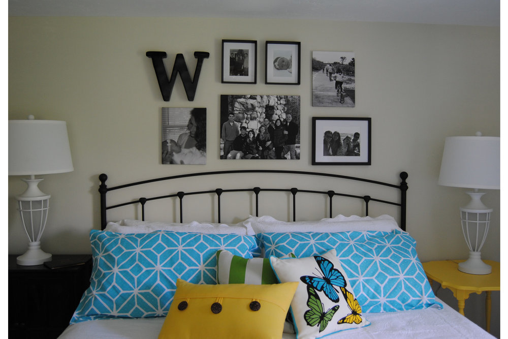 guest room gallery wall