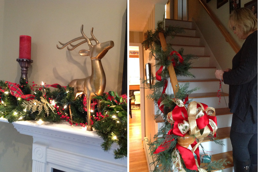 Christmas holiday decorating