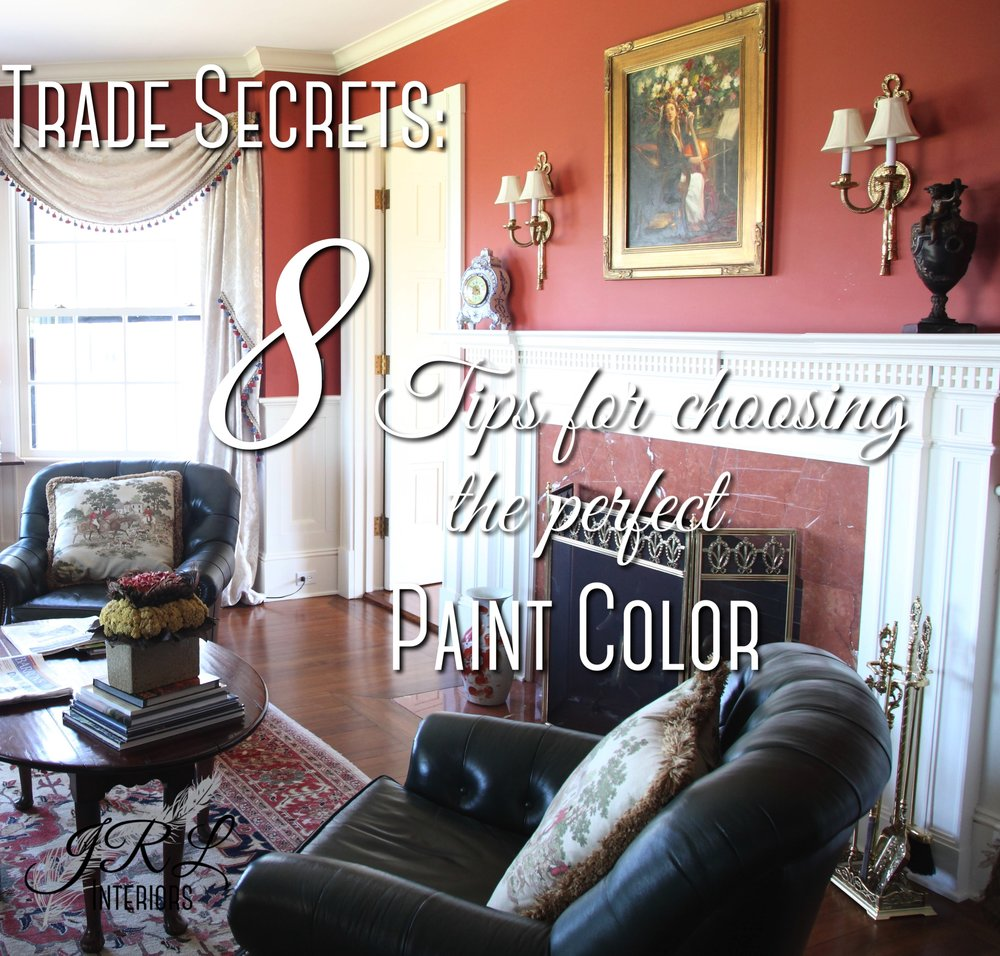 8 Tips for choosing the perfect paint color