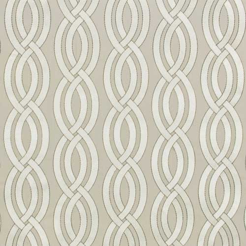 slipcover fabric, neutral geometric, embroidered woven
