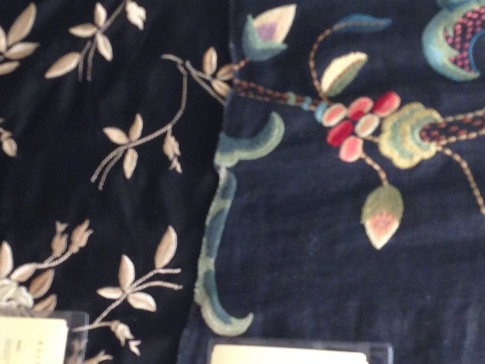 black embroidered linen at Kravet