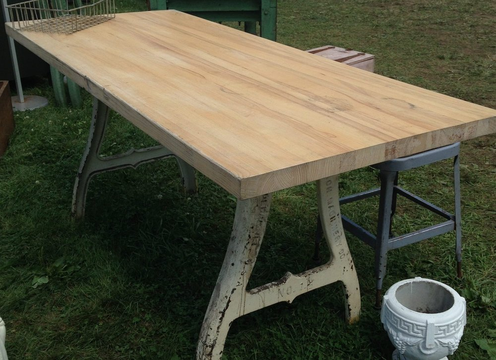sawhorse table