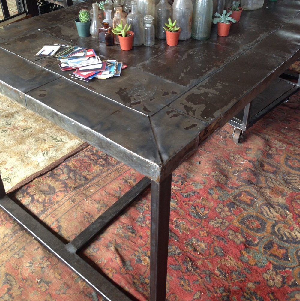 metal door table