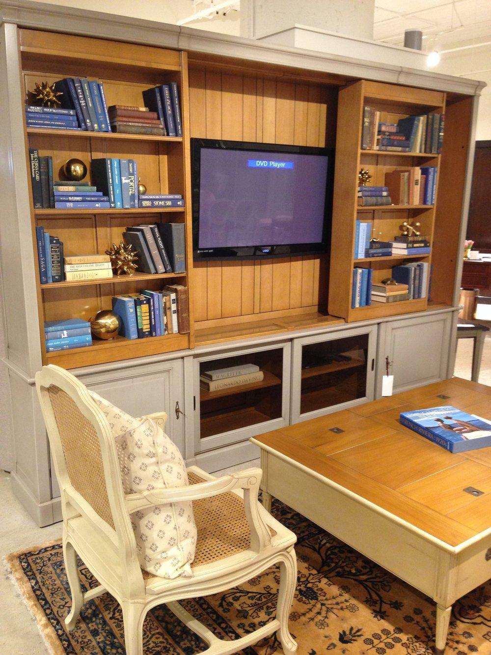 Grange media cabinet and bookshelf
