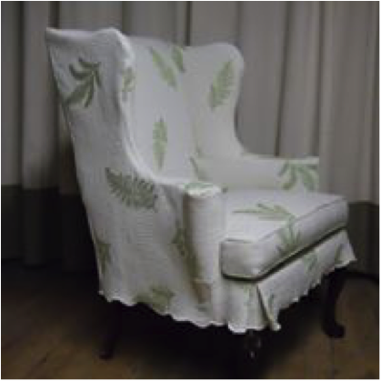 Matelasse slipcover from a bedspread!