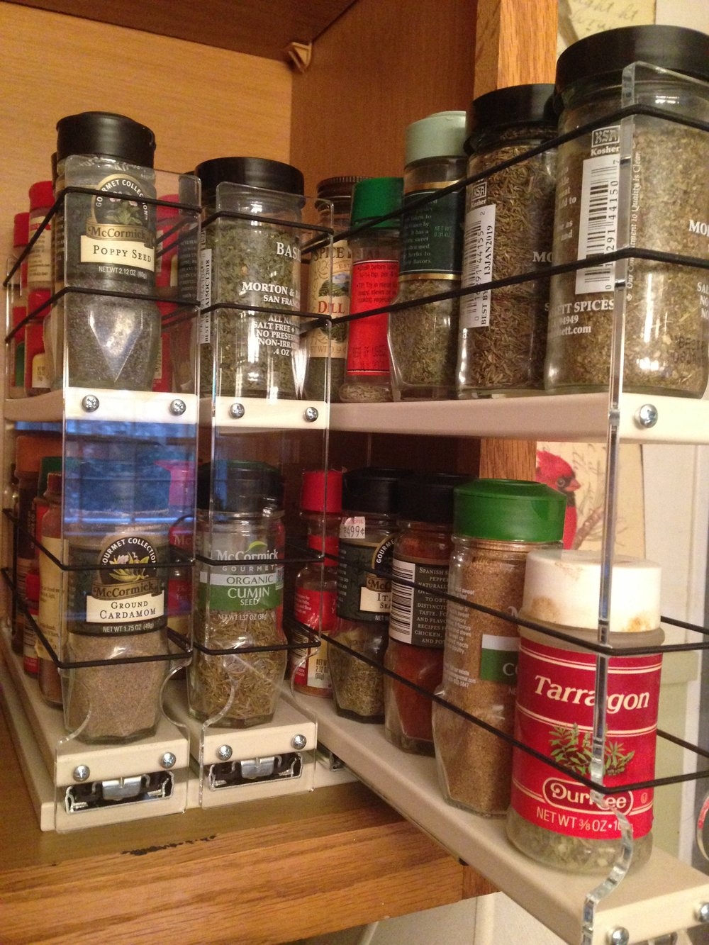 Click    HERE    for more information on the    Vertical Spice Rack