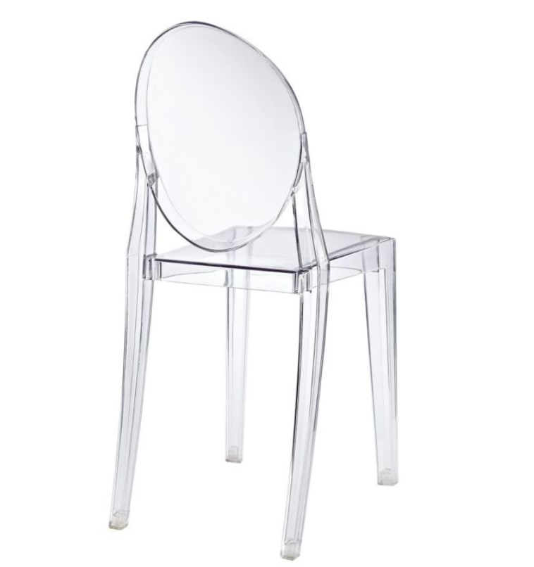 lucite side chair