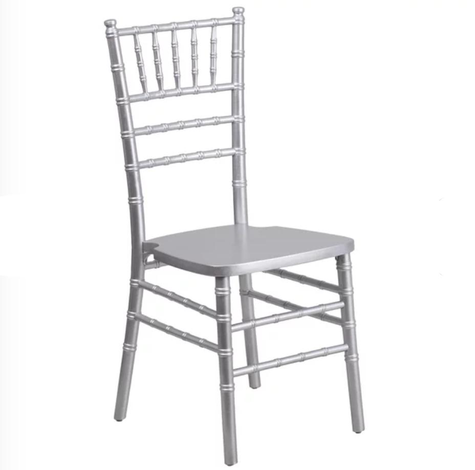 ballroom chair, silver