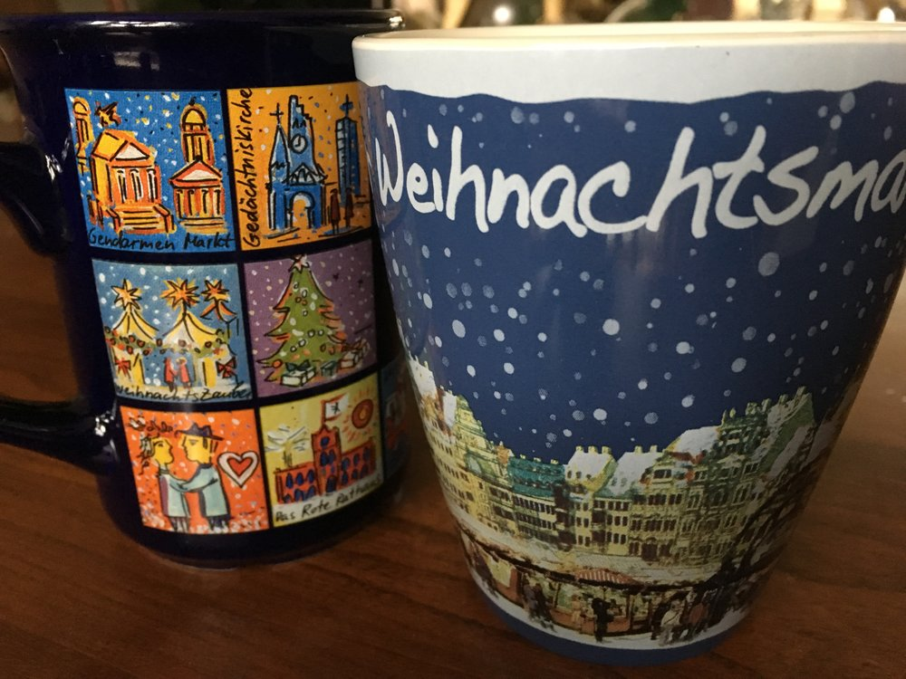 Here are 2 Christmas Market mugs that made their way home!