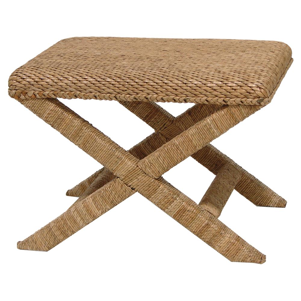 rope and seagrass stool