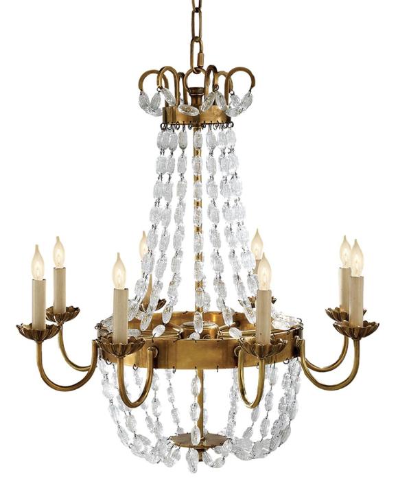 Paris flea market chandelier