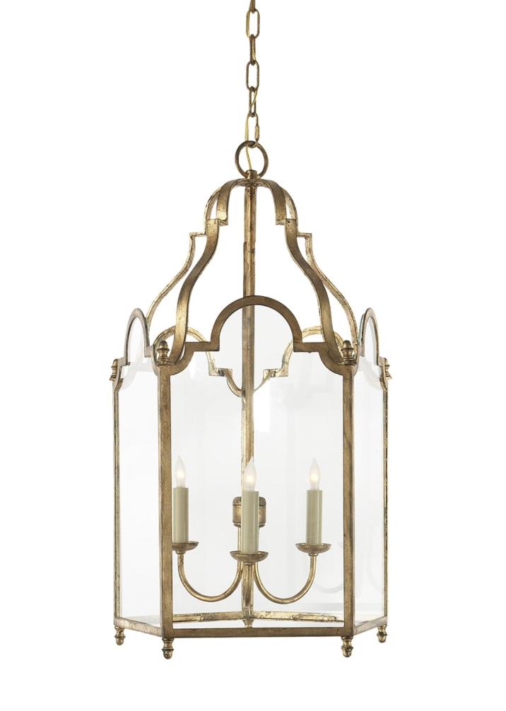 Gilded iron French market lantern