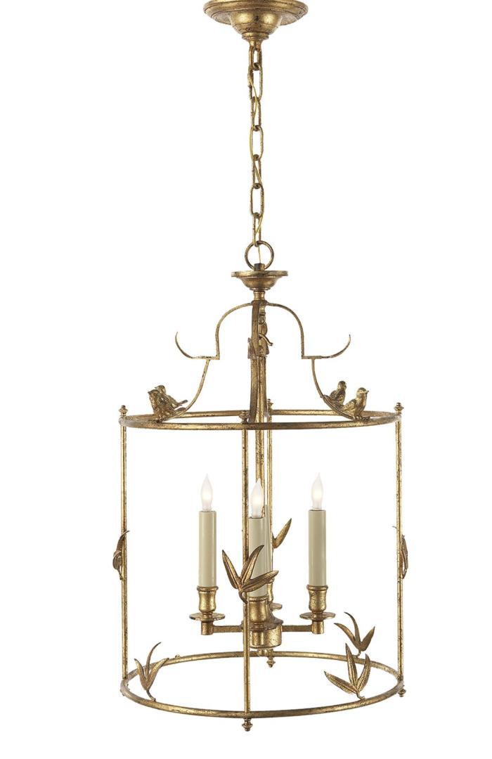 Bird lantern chandelier