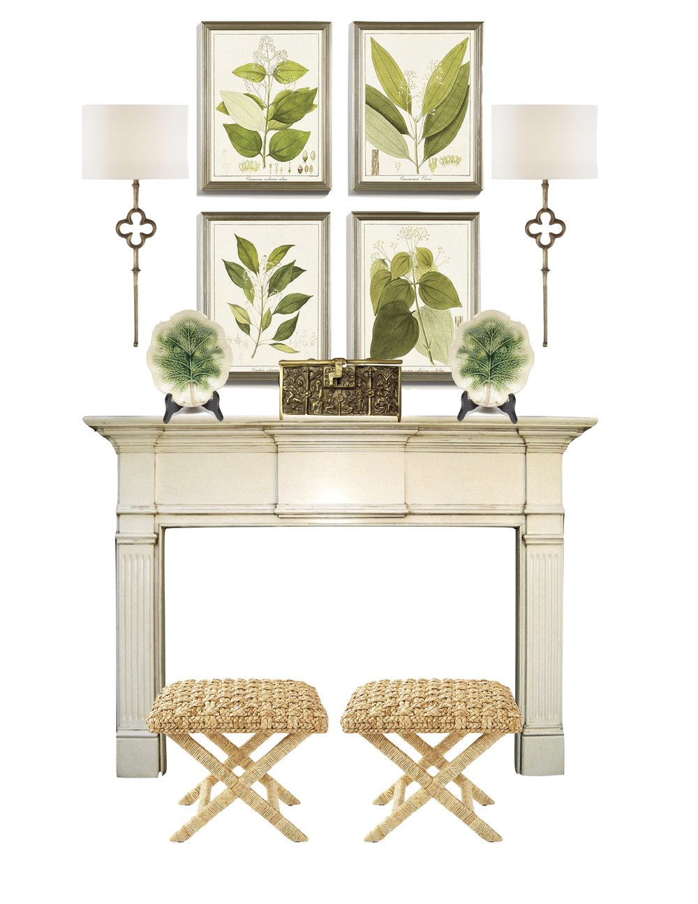Sconces   |   Botanical Prints   |   Majolica Plates   |   Seagrass Stools