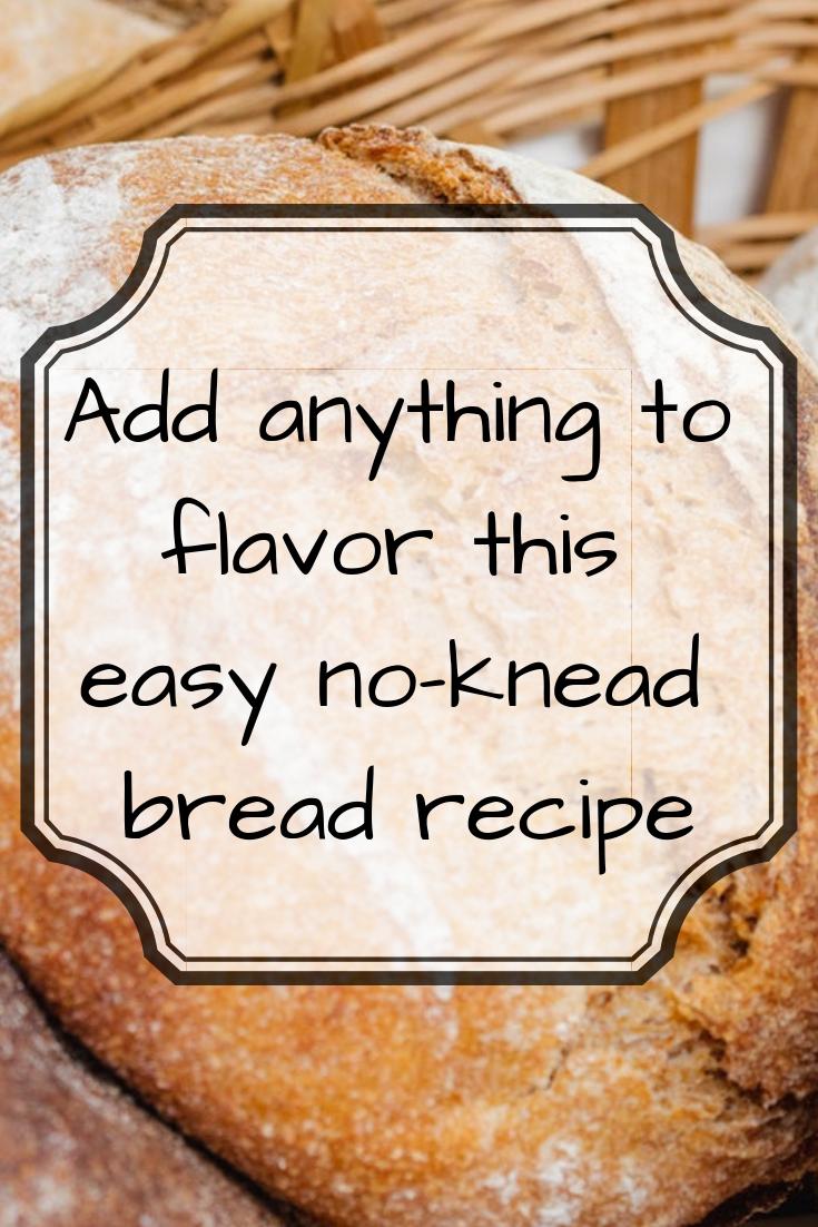 Home made no knead bread recipe
