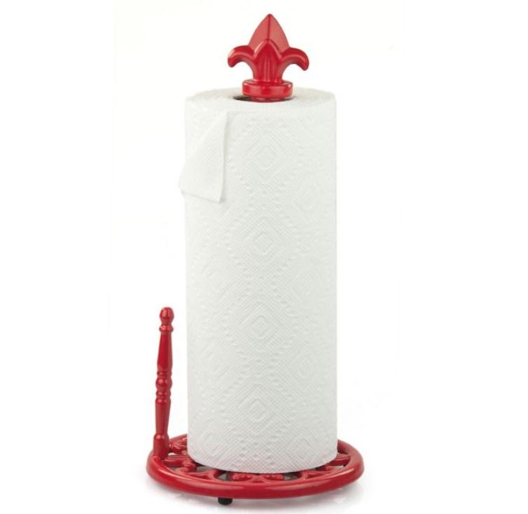 red paper towel holder