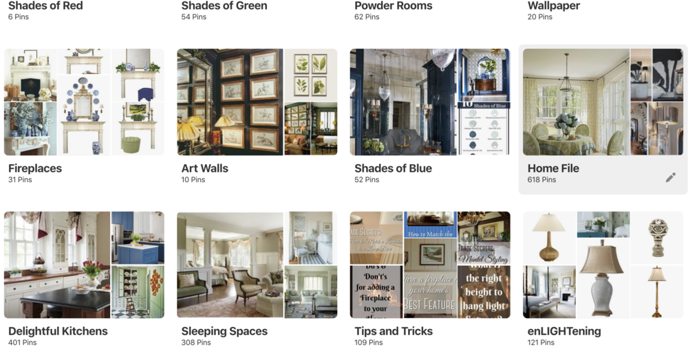 Create a Pinterest board (or boards) to collect the images you find appealing