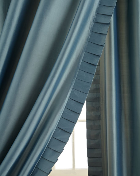 silk panels with pleated detail