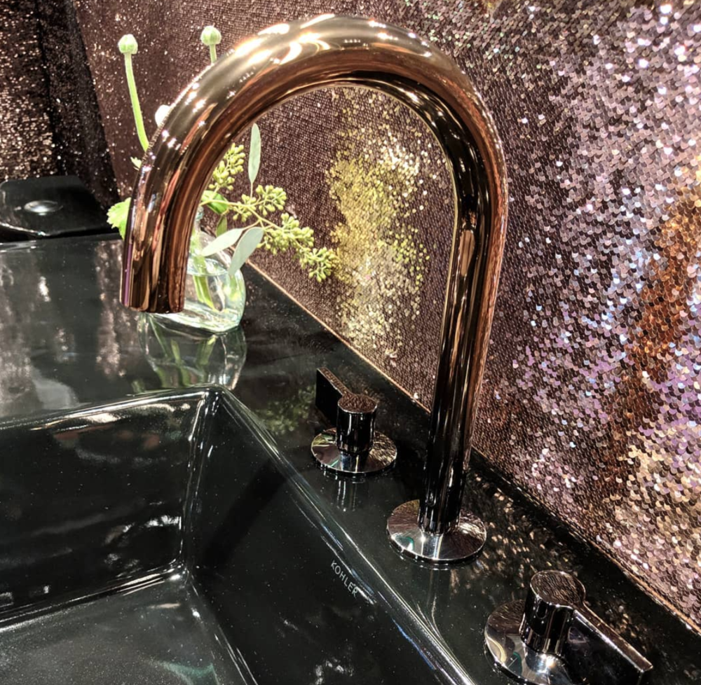The new ombre faucets from   Kohler at KBIS     transitions from a rose gold to a titanium finish