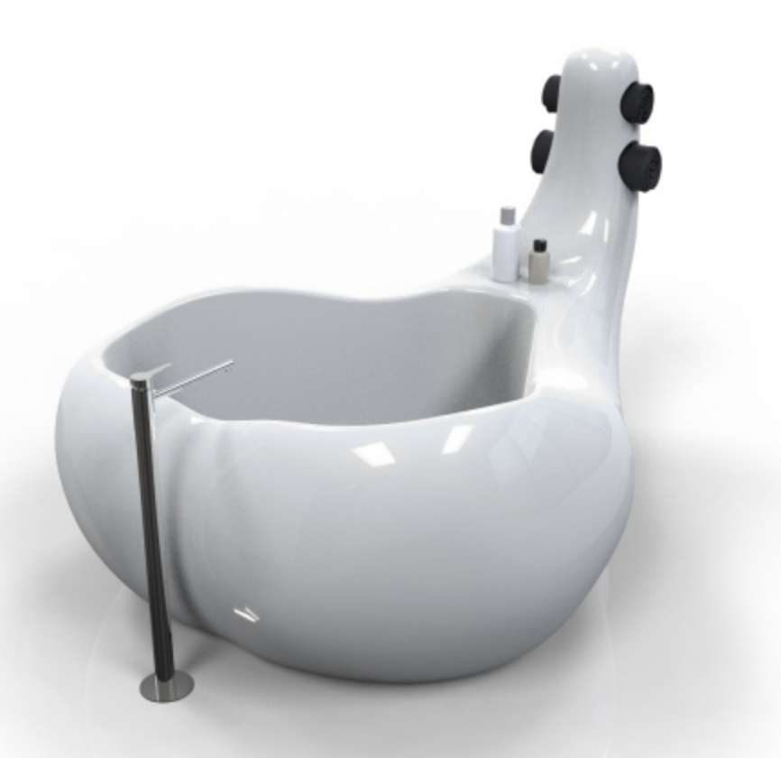 The ameba via   ZAD     You can check out the link for more regrettable sink and tub shapes that should best be avoided.