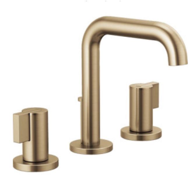 Brizo brushed gold faucet