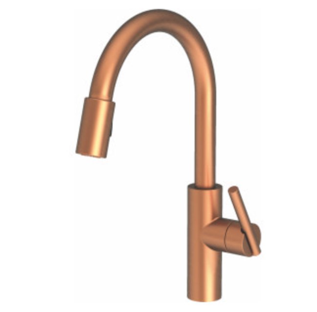 copper finish Newport Brass faucet