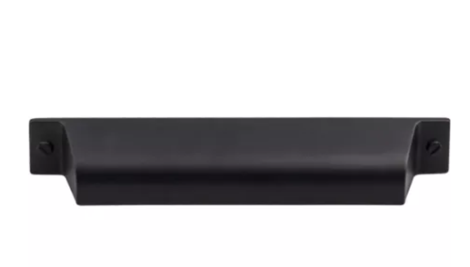 Top Knobs flat black cabinet pull