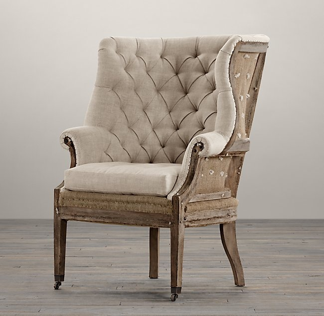 - Remember these gems from RH? You get to pay twice as much for a half upholstered chair!