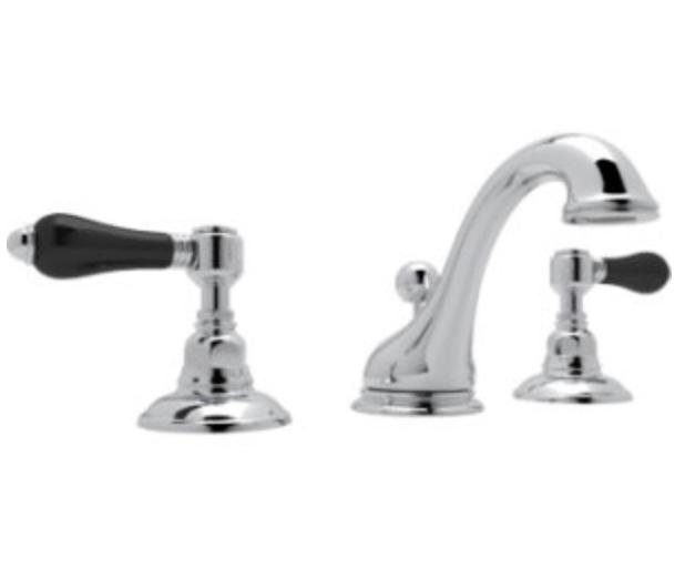 black handled faucet