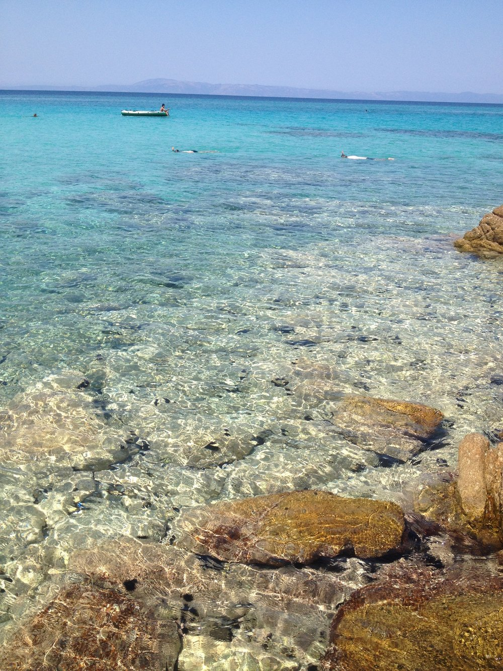 The beach that is a 30 minute drive from Angie H's home as a young girl in Greece.
